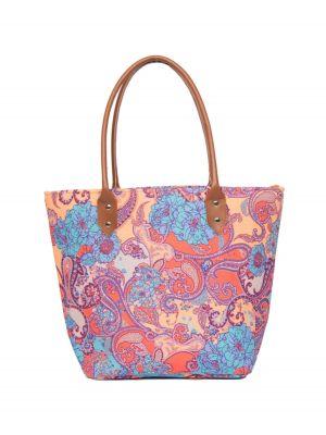 Ladies Blue Paisley Print Beach Bag from Powder
