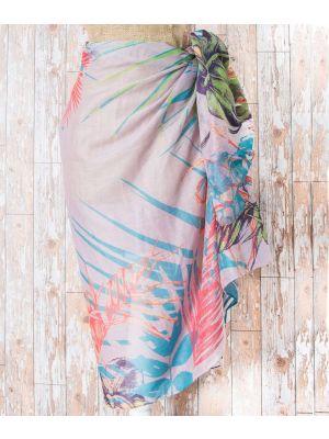 Ladies Stone Tropical Print Sarong from Powder