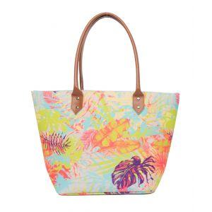 Ladies Stone Tropical Print Beach Bag from Powder