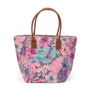 Ladies Flamingo Print Beach Bag from Powder