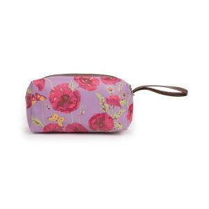 Ladies Poppy Print Small Cosmetic Bag from Powder