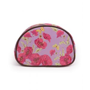 Ladies Poppy Print Large Cosmetic Bag from Powder
